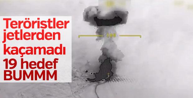 Türk jetlerinin terör yuvalarını vurduğu anlar