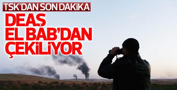 TSK: DEAŞ El Bab'dan çekiliyor