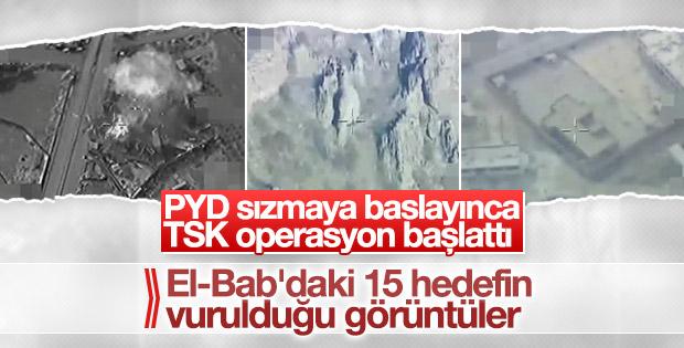TSK'nın El Bab'ı vurma görüntüleri