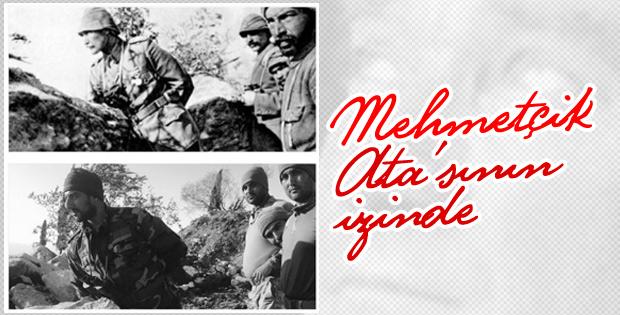 Zeytin Dalı Harekatı'nda Mehmetçik'ten Atatürk pozları