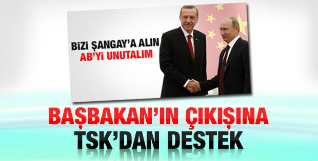 Erdoğan'ın Şangay çıkışına TSK'dan destek geldi