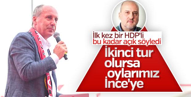 HDP'den Muharrem İnce'ye oy sözü