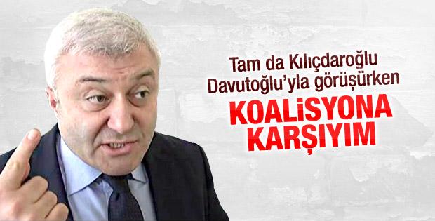 Tuncay Özkan: AK Parti-CHP koalisyonuna karşıyım