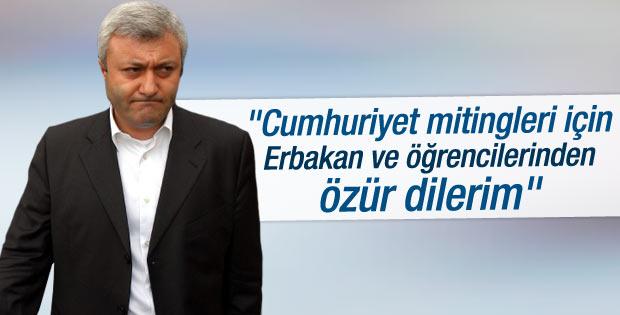 Tuncay Özkan Cumhuriyet mitingleri için özür diledi