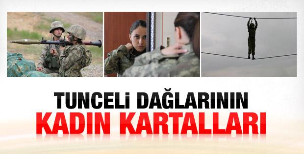 Tunceli Komando Tugayı'nda 4 kadın komutan İZLE