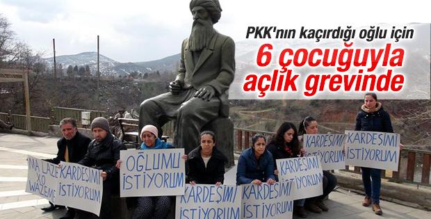 PKK'nın kaçırdığı oğlu için açlık grevi başlattı