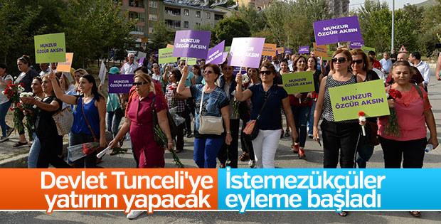 Tunceli'de baraj yapımına karşı eylem