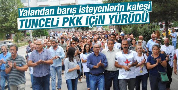 PKK için yürüyen Tunceli barış mı istiyor