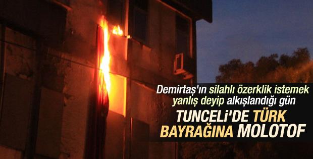 Tunceli'de Türk bayrağı yaktılar