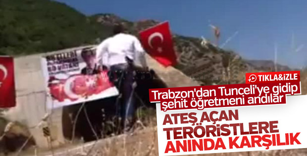 Teröristlere inat Türk bayrağı asan adam saldırıya uğradı