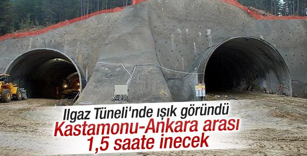 572 milyon TL'lik Ilgaz Tüneli'nde sona gelindi