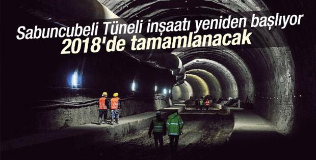 Sabuncubeli tünel inşaatı yeniden başlıyor