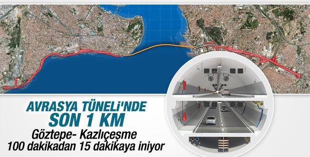 Avrasya Tüneli'nde son 1 kilometre