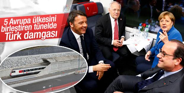 Dünyanın en uzun tünelinde Türk imzası