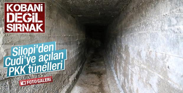 Şırnak'ta PKK'nın tünelleri bulundu