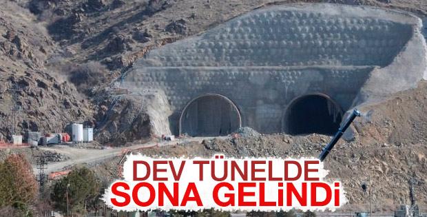 Doğu Anadolu'yu Akdeniz'e bağlayacak tünelde sona doğru