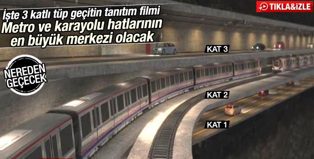 İstanbul'a 3. tüp geçit projesi tanıtıldı