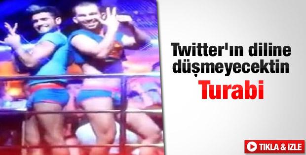Twitter'da Turabi'nin dansıyla dalga geçildi