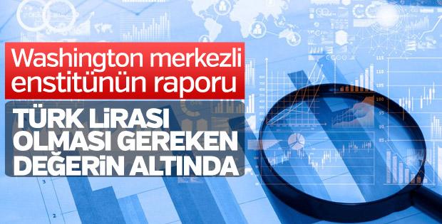 'Türk lirası adil değerinin altında'