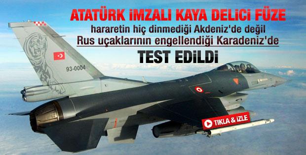 Türk Hava Kuvvetleri SOM füzesini test etti
