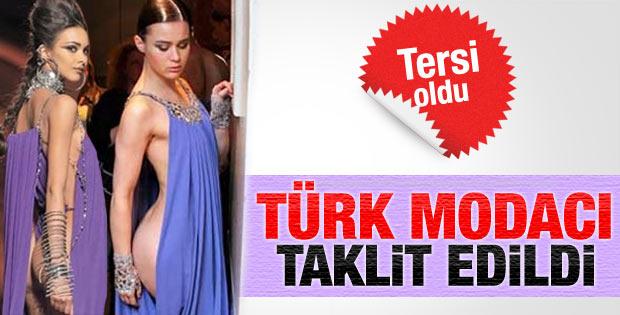 Moda devi Türk modacıdan kıyafet aşırdı