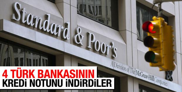 S&P 4 Türk bankasının görünümünü düşürdü