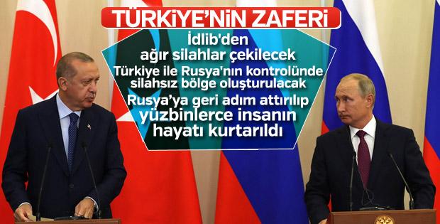 Başkan Erdoğan ile Putin'den ortak açıklama