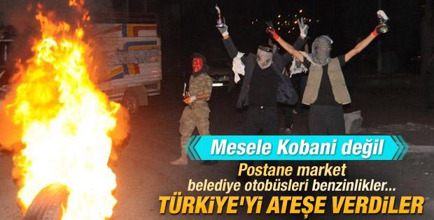 Türkiye genelinde izinsiz Kobani eylemleri
