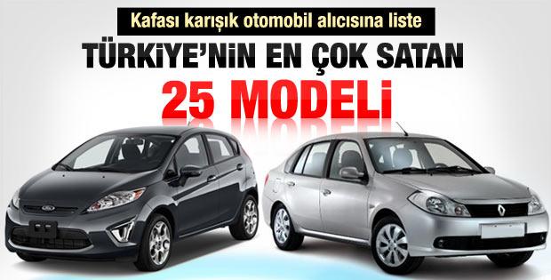 Türkiye'nin en çok satan 25 otomobil modeli
