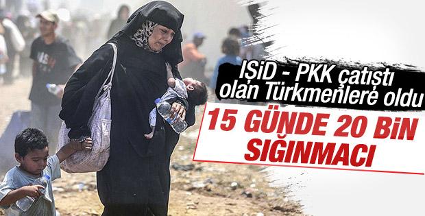 15 günde 20 bin 997 Suriyeli Türkiye'ye alındı