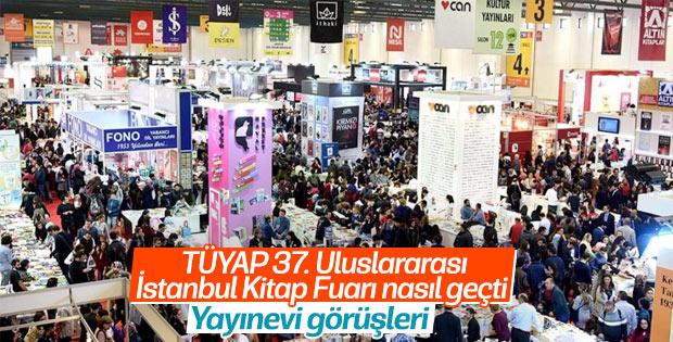 Yayınevleri, TÜYAP 37. Uluslararası İstanbul Kitap Fuarı'nı nasıl değerlendirdi