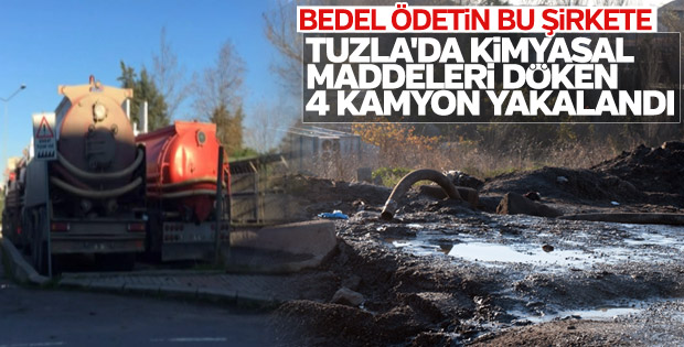 Tuzla'da kokuya neden olan 4 kamyon yakalandı