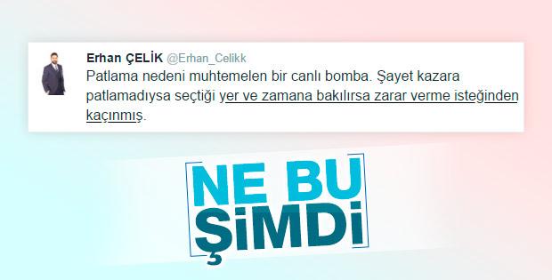Erhan Çelik'in tweet'i anlaşılamadı