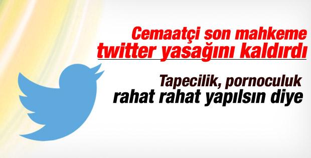 Twitter'a erişim engellemesi kararının yürütmesi durduruldu