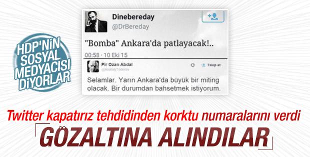 Ankara'daki saldırı öncesi tweet atan kişiler gözaltında