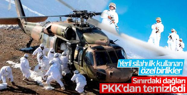 Komandolar sınırdaki dağlarda PKK'yı temizledi
