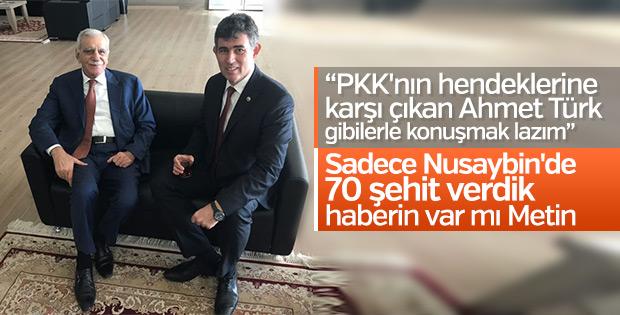 Metin Feyzioğlu Ahmet Türk'le buluştu