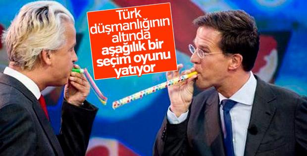Hollanda seçim öncesi Türk düşmanlığı yapıyor