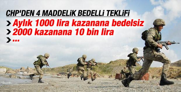 CHP bedelli askerlik için kanun teklifi verdi