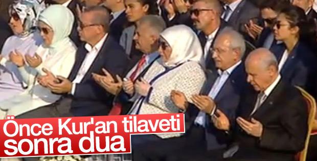 Yenikapı'da Kur'an tilaveti