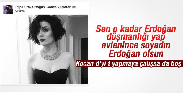 Gonca Vuslateri nefret ettiği Erdoğan soyadını aldı