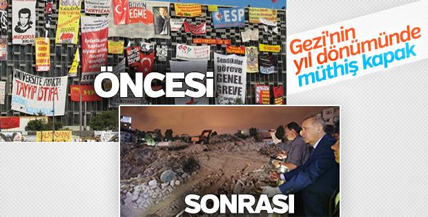 Gezi'de hakaret pankartları asılan AKM'nin son hali