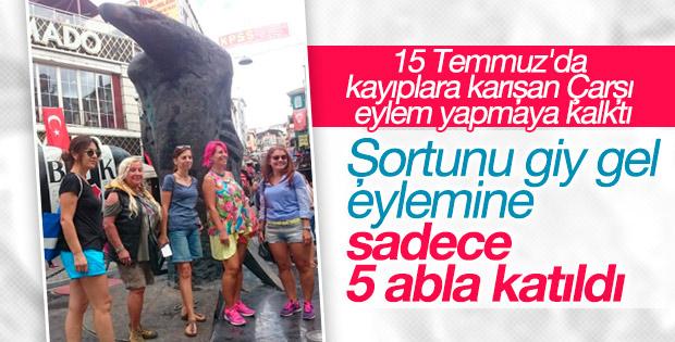 Beşiktaş'ta şortunu giy gel eylemi