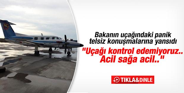 Bakan Müezzinoğlu'nun uçağında panik İZLE