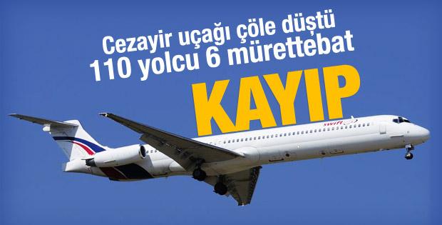 116 kişi taşıyan uçak çöle düştü