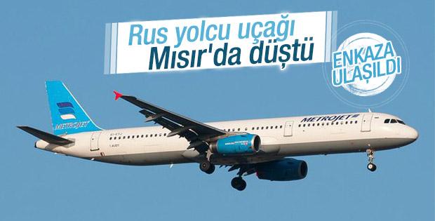 Rusya'ya ait yolcu uçağı Mısır'da düştü