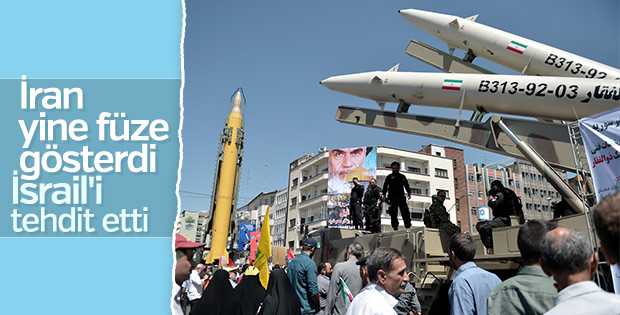 İran'da Dünya Kudüs Günü yürüyüşü