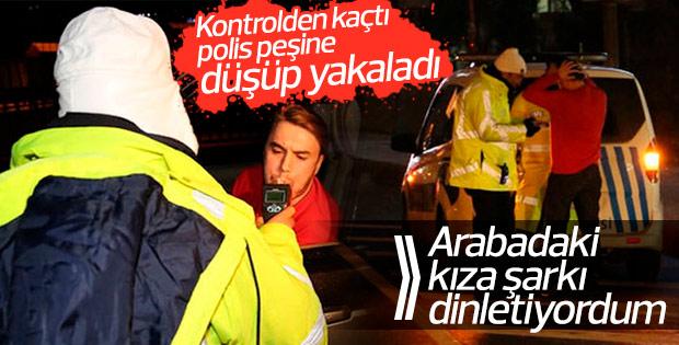 Mustafa Ceceli trafik polisinden kaçtı