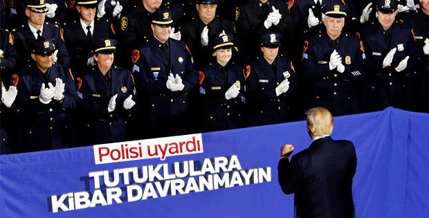 Polislerden Trump'a 'kibar olmayın' yanıtı