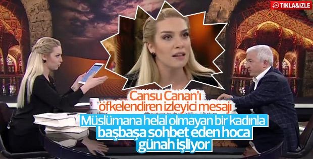 Canlı yayında Cansu Canan'ı kızdıran 'haram' sorusu